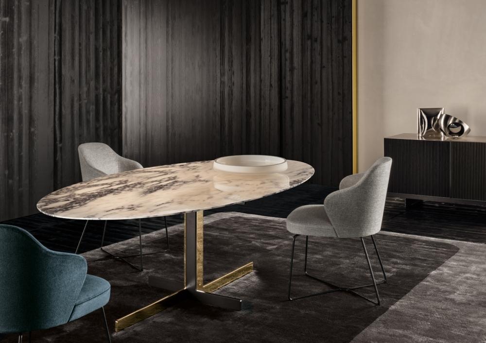 DINING TABLE CATLIN, DINING CHAIR LESLIE, SIDE BOARD AYLON, RUG DIBBETS CAMBRÉ - DESIGNER RODOLFO DORDONI